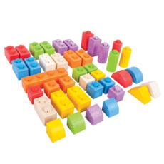 bigjigs toys Houten klik blokken - 40 stuks