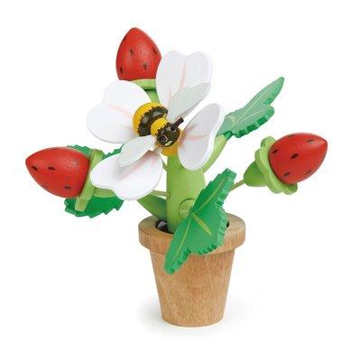 Tender Leaf Toys Aardbeienplant in bloempot