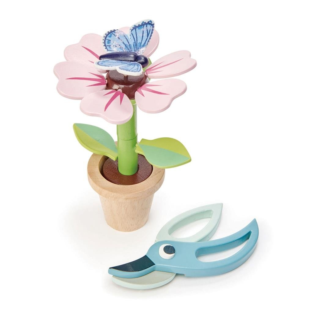 Tender Leaf Toys Bloem en vlinder in pot