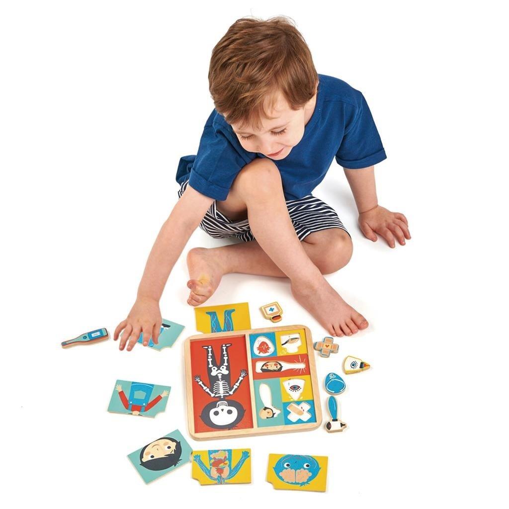 Tender Leaf Toys Puzzel menselijk lichaam