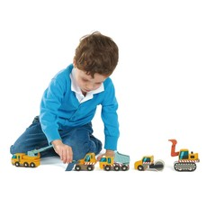 Tender Leaf Toys Houten bouwvoertuigen