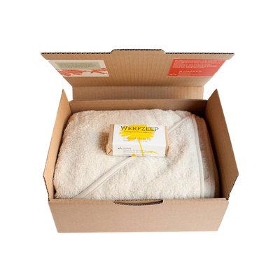 werfzeep Babyset handdoek met zeep