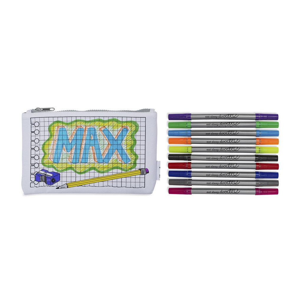 eat sleep doodle Schrijfbare pennenzak - doodle