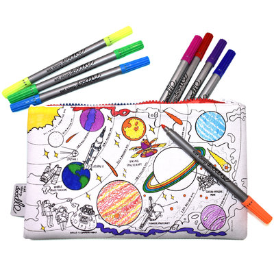 eat sleep doodle Schrijfbare pennenzak - ruimte