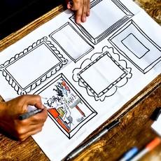 eat sleep doodle Schrijfbare placemats - doodle