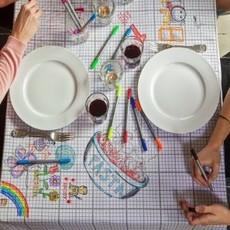 eat sleep doodle Schrijfbaar tafelkleed - medium