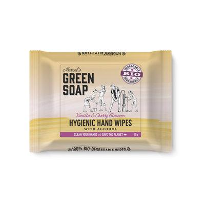 marcel's green soap Hand reinigingsdoekjes - Vanille & Kersenbloesem