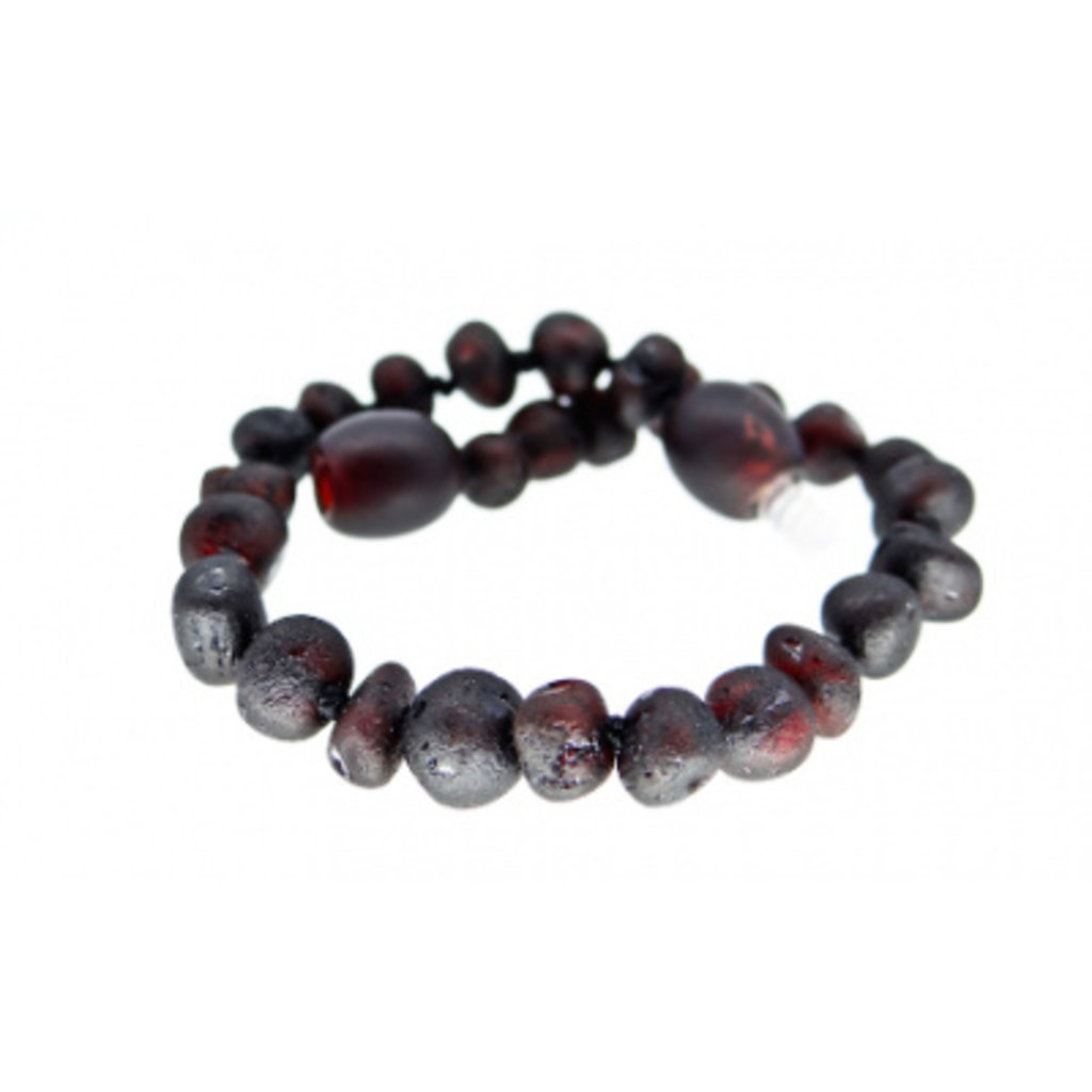 barnsteen Barnsteenarmbandje - Raw black cherry