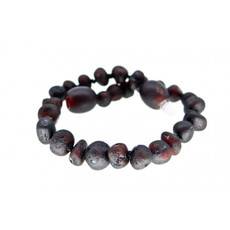 barnsteen Barnsteenarmbandje - Raw black cherry