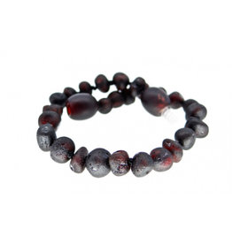 barnsteen Armbandje - Raw black cherry