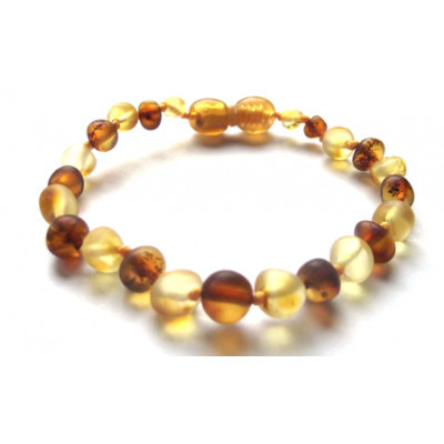 barnsteen Barnsteenarmbandje - Raw Cognac/Honey