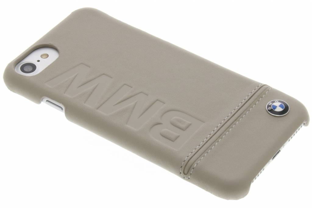 Real Leather Hard Case iPhone 8 / 7 - Taupe