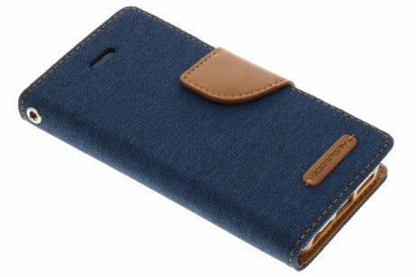 Mercury Goospery Canvas Diary Booktype voor iPhone SE / 5 / 5s - Blauw