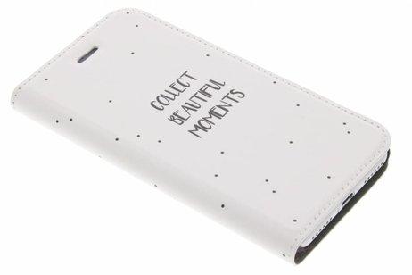 Design Hardcase Booktype voor iPhone 8 / 7 - Quote