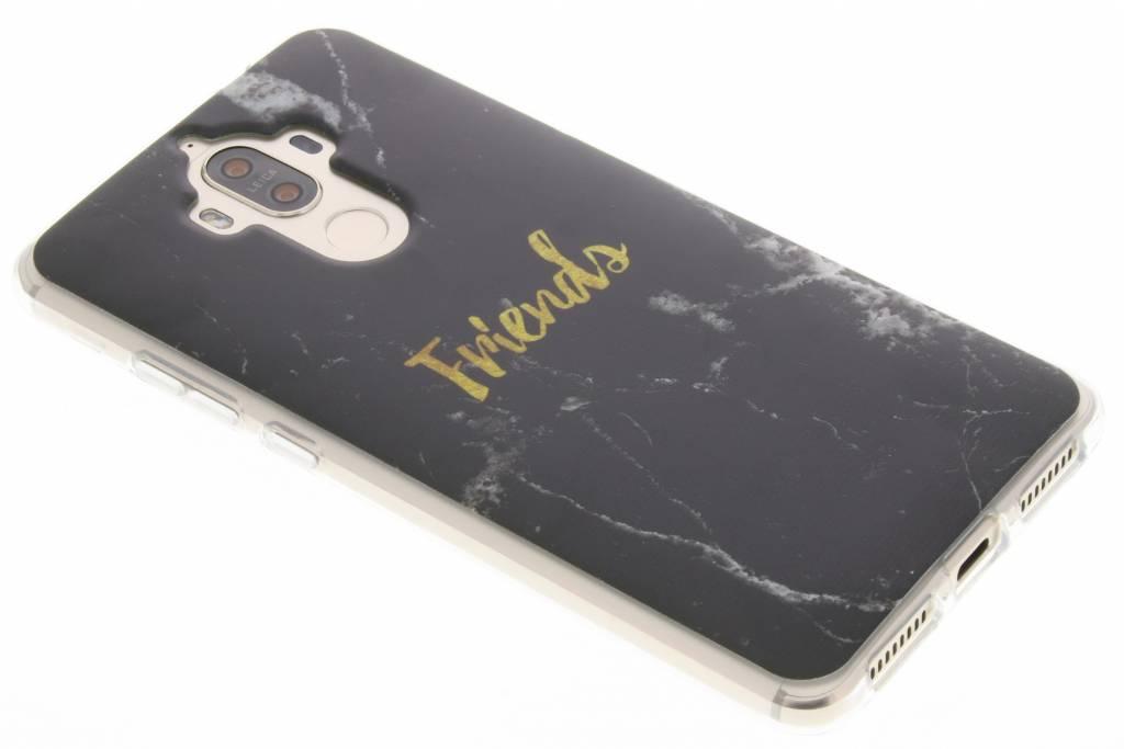 Design Backcover voor Huawei Mate 9 - Friends Zwart