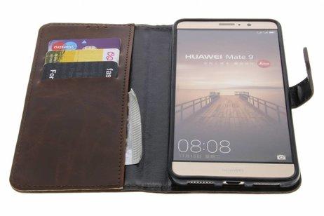 Luxe Lederen Booktype voor Huawei Mate 9 - Bruin