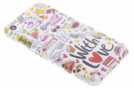 Blond Amsterdam Design Backcover voor iPhone 8 / 7 - With love
