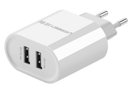 Ugreen 2-Poorts Wall Charger 3,4 ampère - Wit