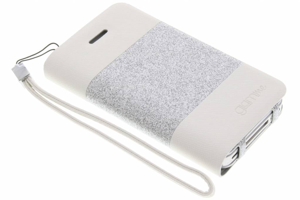 Celly Glitty booktype hoes voor de iPhone 4 / 4s - Wit