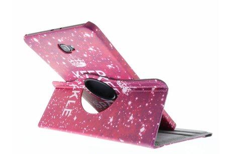 360° Draaibare Design Bookcase voor Samsung Galaxy Tab A 10.1 (2016) - Keep Calm