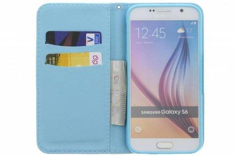 Design Softcase Booktype voor Samsung Galaxy S6