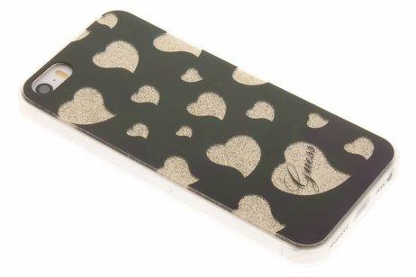 Guess Hearts Soft TPU Case voor de iPhone 5 / 5s / SE - Gold