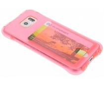 Roze TPU hoesje met vakje Samsung Galaxy S6