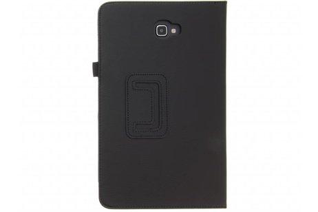 Effen Bookcase voor Samsung Galaxy Tab A 10.1 (2016) - Zwart
