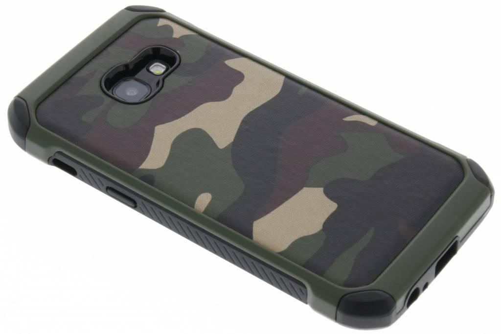 Army Defender Backcover voor Samsung Galaxy A3 (2017) - Groen