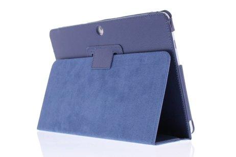 Effen Bookcase voor Samsung Galaxy Tab 2 10.1 - Donkerblauw