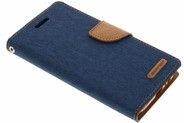 Mercury Goospery Canvas Diary Booktype voor Samsung Galaxy A5 (2017) - Donkerblauw
