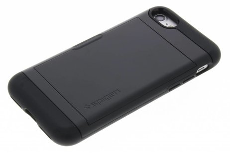 Spigen Slim Armor CS Backcover voor iPhone SE (2020) / 8 / 7 - Zwart