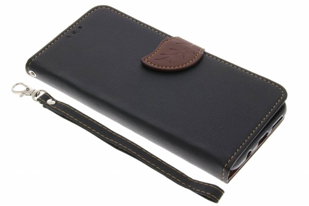 Blad Design Booktype voor Samsung Galaxy S8 Plus - Zwart