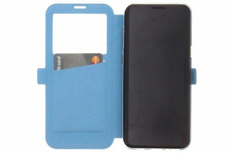 Rhombus Booktype voor Samsung Galaxy S8 Plus - Turquoise