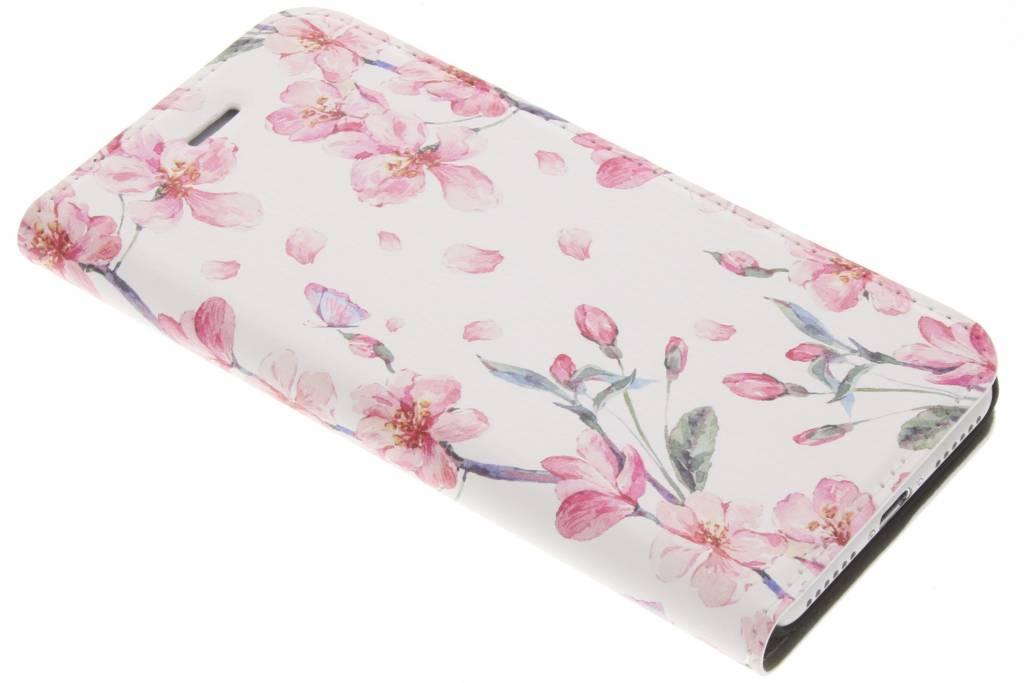 Design Hardcase Booktype voor iPhone 8 / 7 - Bloesem Watercolor