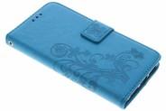 Klavertje Bloemen Booktype voor Huawei Y5 2 / Y6 2 Compact - Turquoise