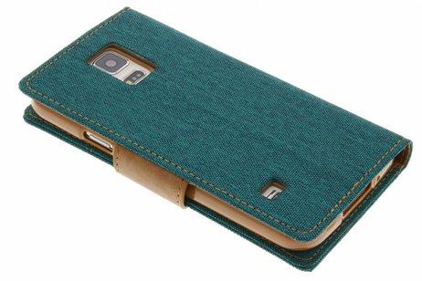 Mercury Goospery Canvas Diary Booktype voor Samsung Galaxy S5 (Plus) / Neo - Groen