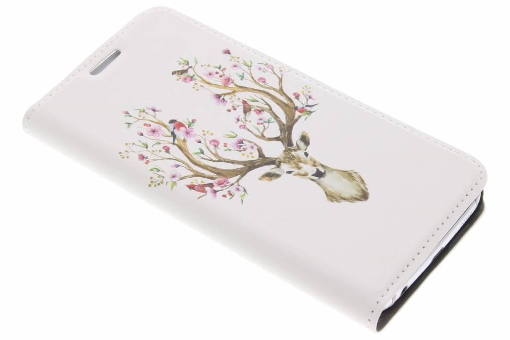 Design Hardcase Booktype voor Samsung Galaxy S6 Edge - Hert