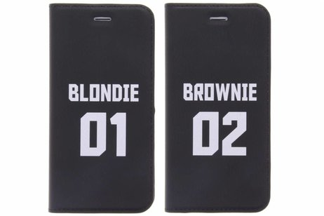Design Hardcase Booktype voor Samsung Galaxy J3 / J3 (2016) - Brownie