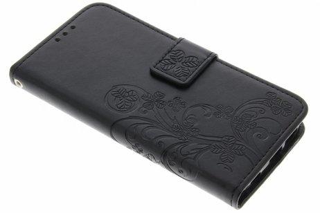Samsung Galaxy S6 Edge hoesje - Klavertje Bloemen Booktype voor