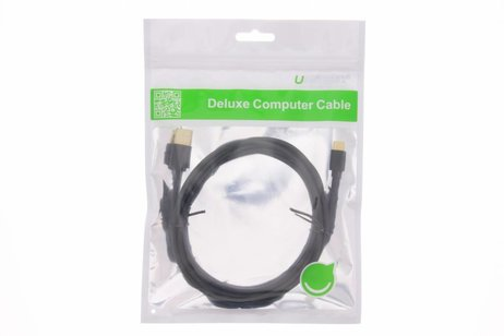 Ugreen Zwarte Micro-USB naar USB-kabel 1 meter