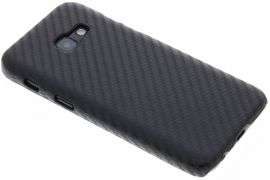 Carbon Hardcase Backcover voor Samsung Galaxy A3 (2017) - Zwart