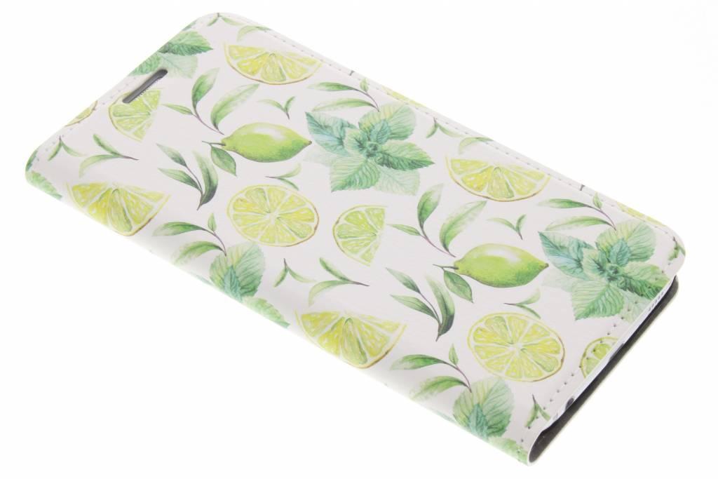 Design Hardcase Booktype voor Samsung Galaxy S6 - Citroen Limoen