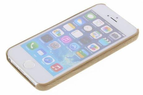 Houten Softcase Backcover voor iPhone SE / 5 / 5s
