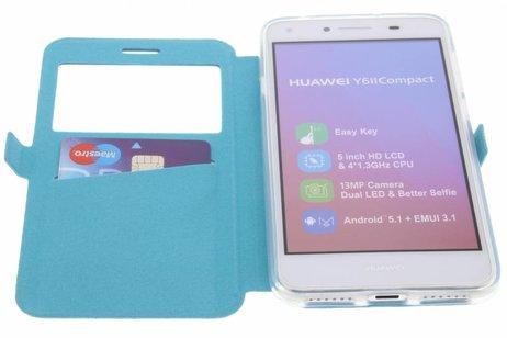 Rhombus Booktype voor Huawei Y5 2 / Y6 2 Compact - Turquoise