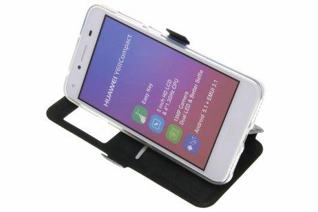 Rhombus Booktype voor Huawei Y5 2 / Y6 2 Compact - Zwart
