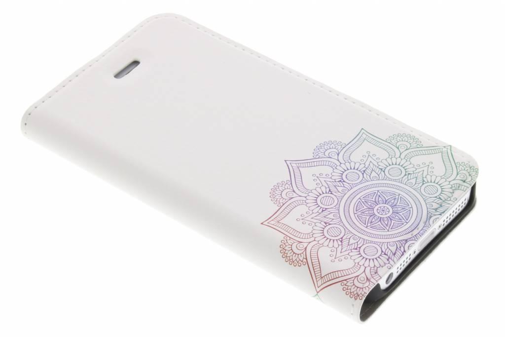 Design Hardcase Booktype voor iPhone SE / 5 / 5s - Mandala Multicolor