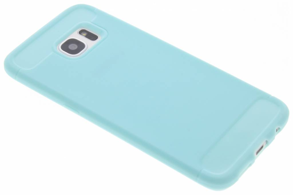 Brushed Backcover voor Samsung Galaxy S7 Edge - Turquoise