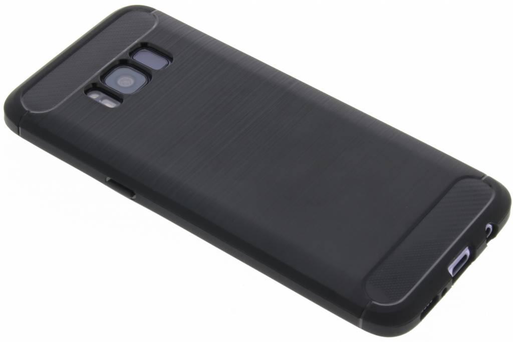 Brushed Backcover voor Samsung Galaxy S8 - Zwart