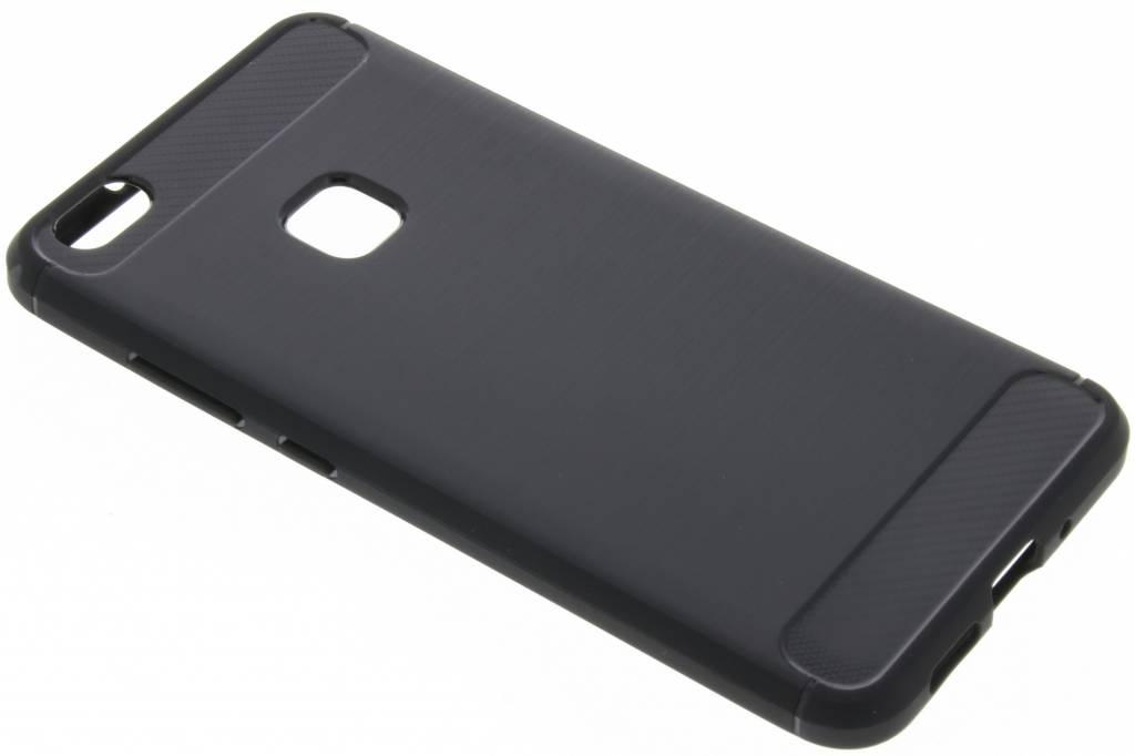 Brushed Backcover voor Huawei P10 Lite - Zwart
